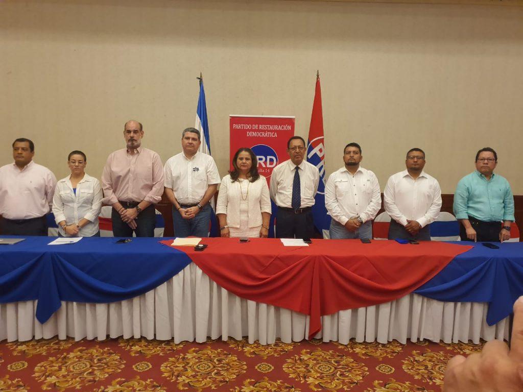 El Partido Restauración Democrática(PRD), es la primera agrupación política que se suma a la Coalicicón Nacional