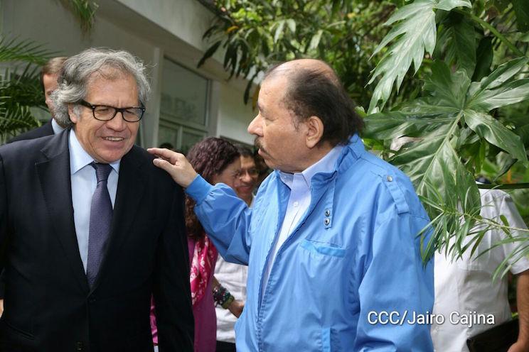 Daniel Ortega y Luis Almagro